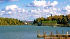 Beautiful Landscape of Lake Charlevoix in Upstate Michigan