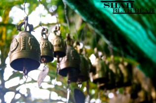 Ornamental wind chimes I fell in love with at a shrine in Phuket, Thailand