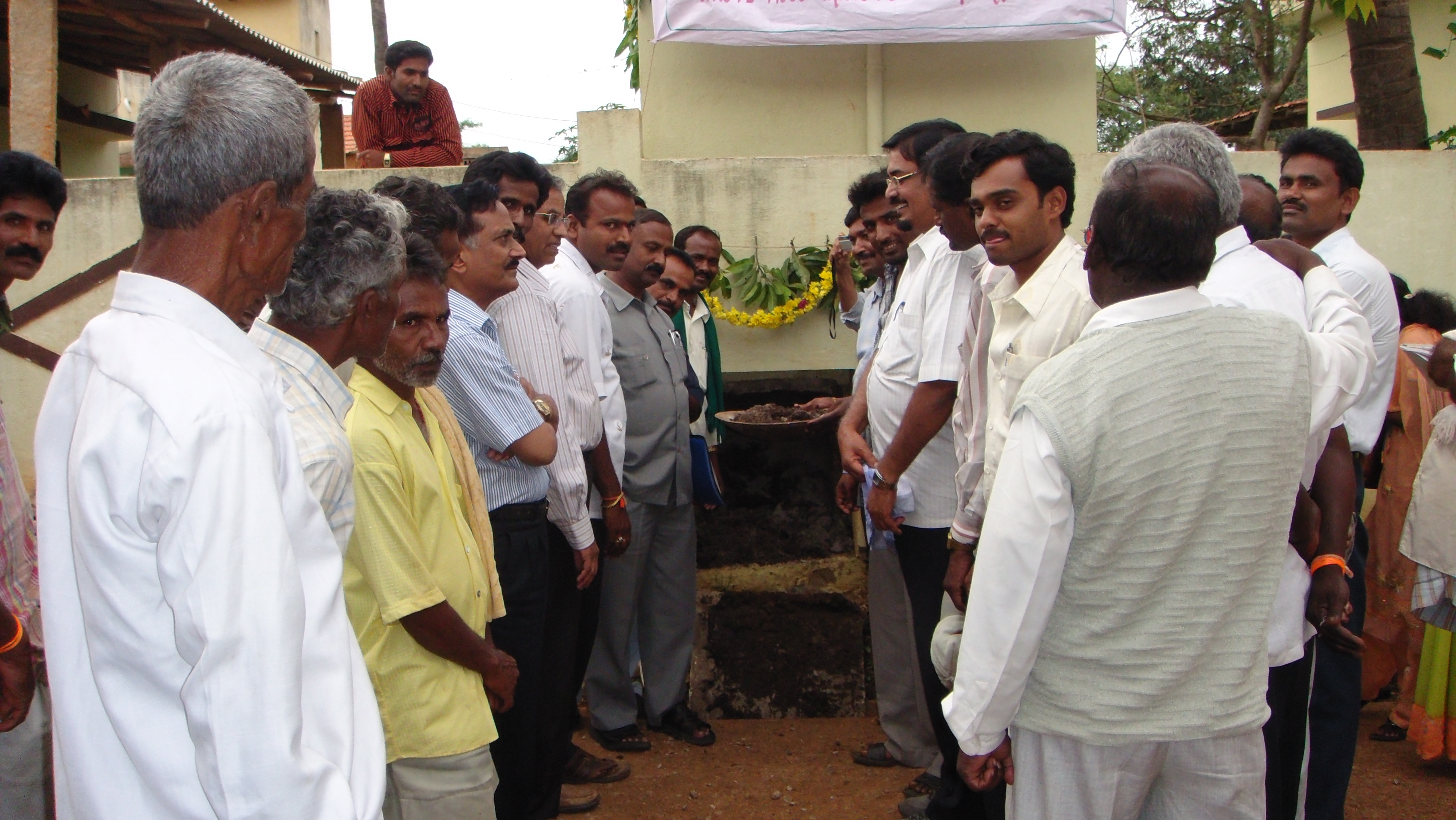 Opening ceremony of ecosan toilet compost pit