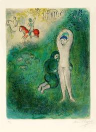 Dafni e Gnatone, Chagall, illustrazioni per le Mille e una notte