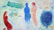 Il giudizio di Cloe, Chagall, illustrazioni per le Mille e una notte