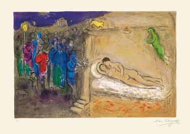 La notte di nozze, Chagall, illustrazioni per le Mille e una notte
