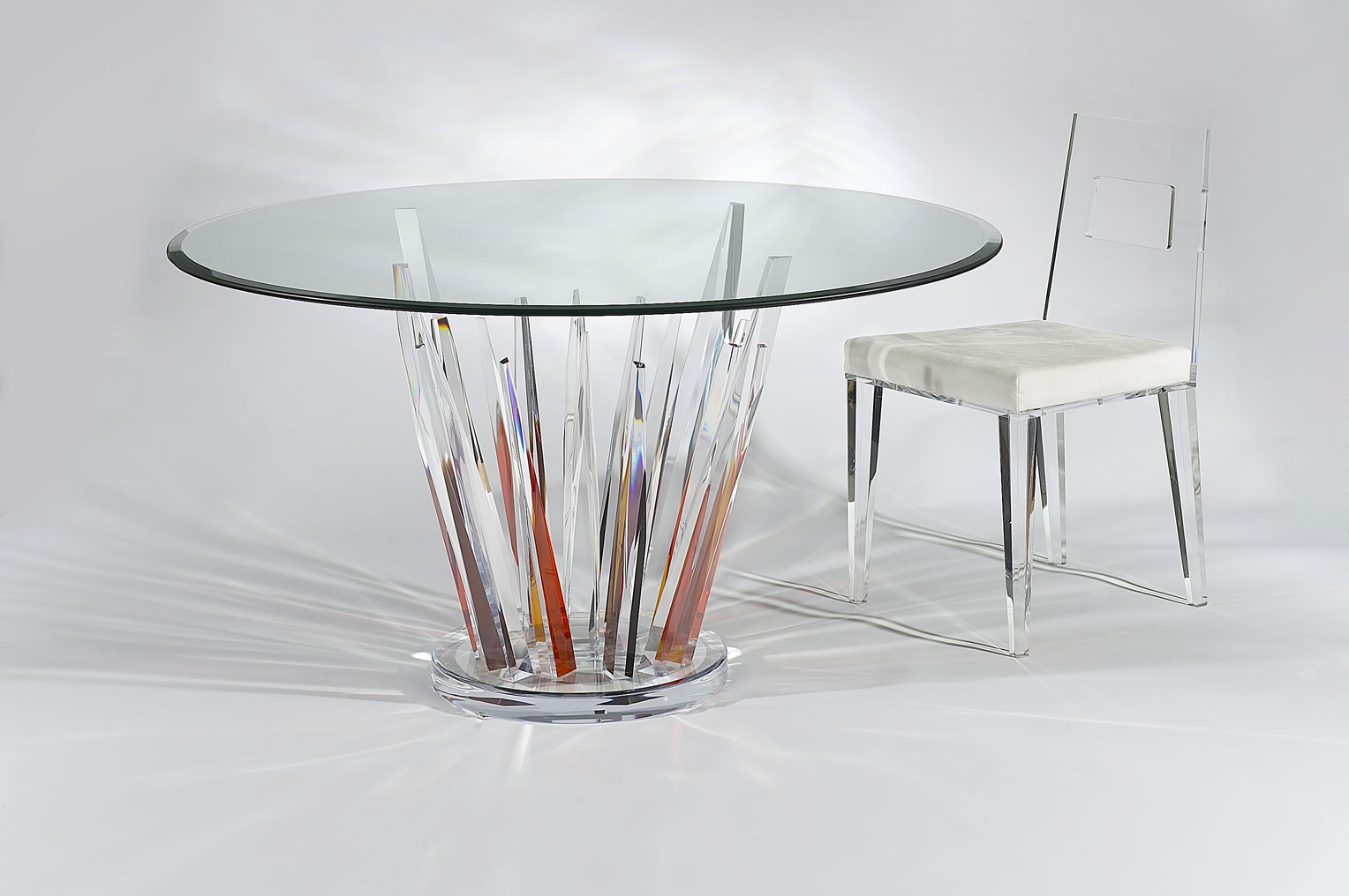 Plexiglass Chairs Crystals Colored Dinette Acrylic Dining Chair Acrylic Furniture