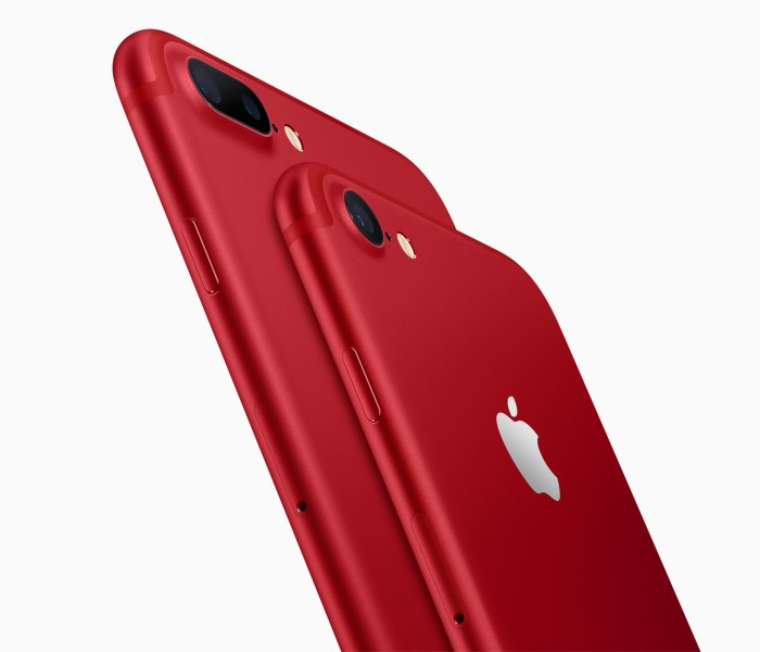 Apple launched iPhone 7 and 7 Plus in Product (RED) color