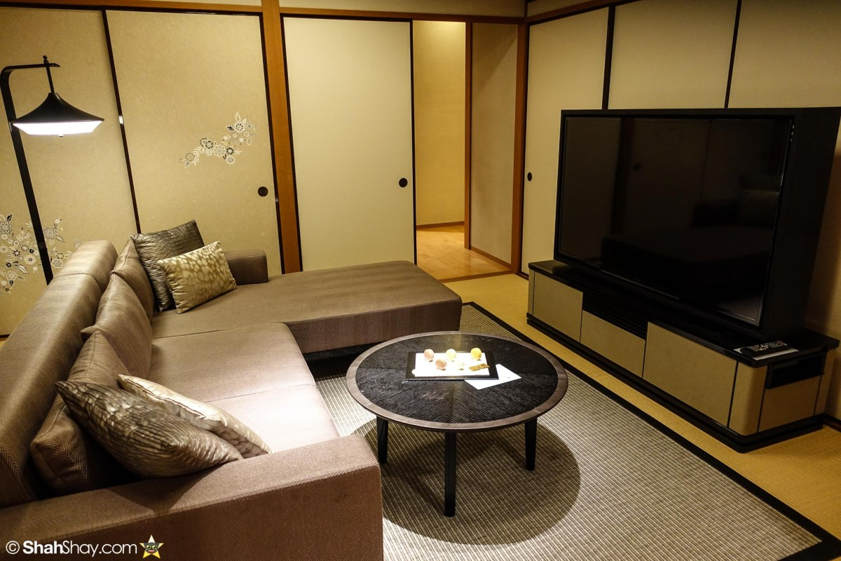 The Ritz-Carlton Tokyo Rooms - Modern Japanese Suite - Living Room TV