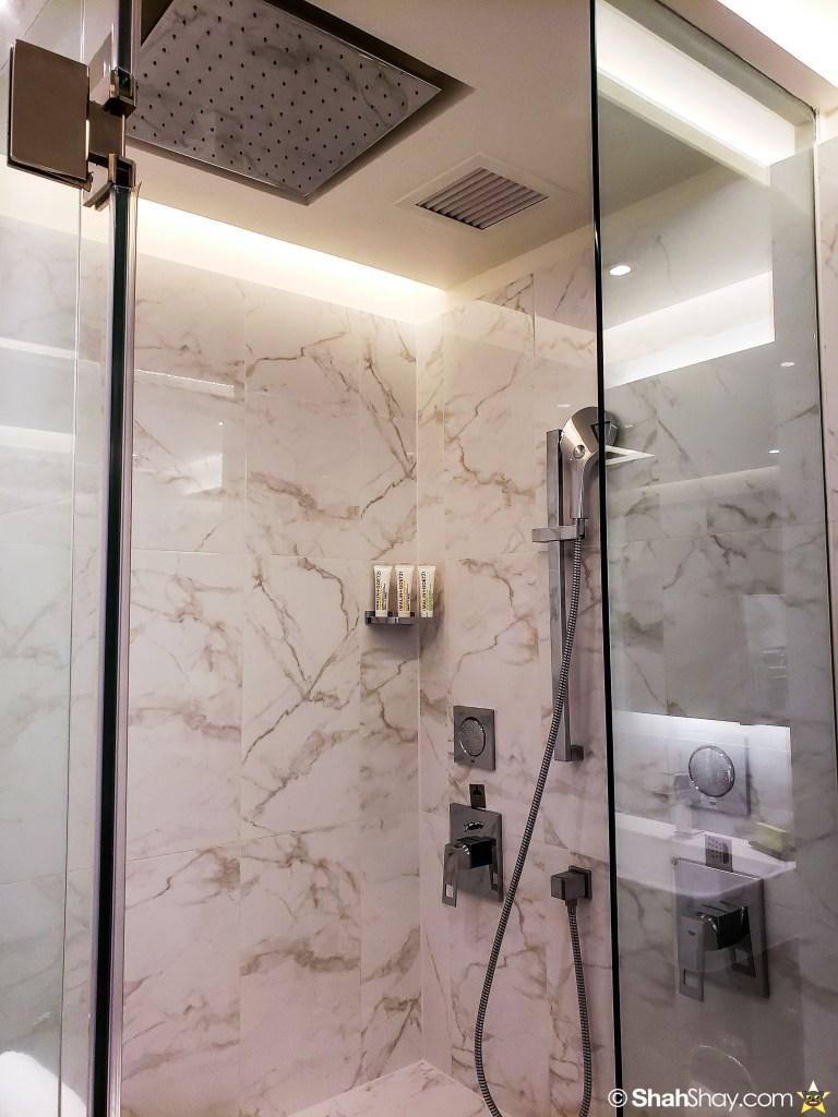 Le Méridien Suite Review at The Le Méridien Kuala Lumpur - bathroom shower 2