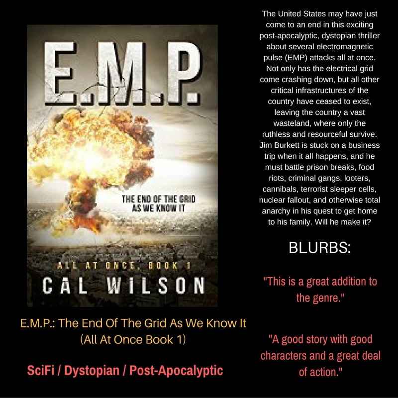 Meet Cal Wilson – Author of #PostApocalyptic #Dystopian Fiction . E.M.P.: The End Of The Grid As We Know It (All At Once Book 1)