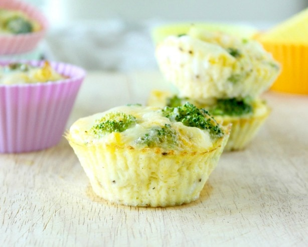Make-Ahead Broccoli Cheddar Egg Cups by Kaleigh McMordie, MCN, RDN of Lively Table (www.livelytable.com)