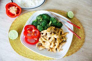ginger lime chicken brocolli