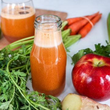 carrot celery and apple juice