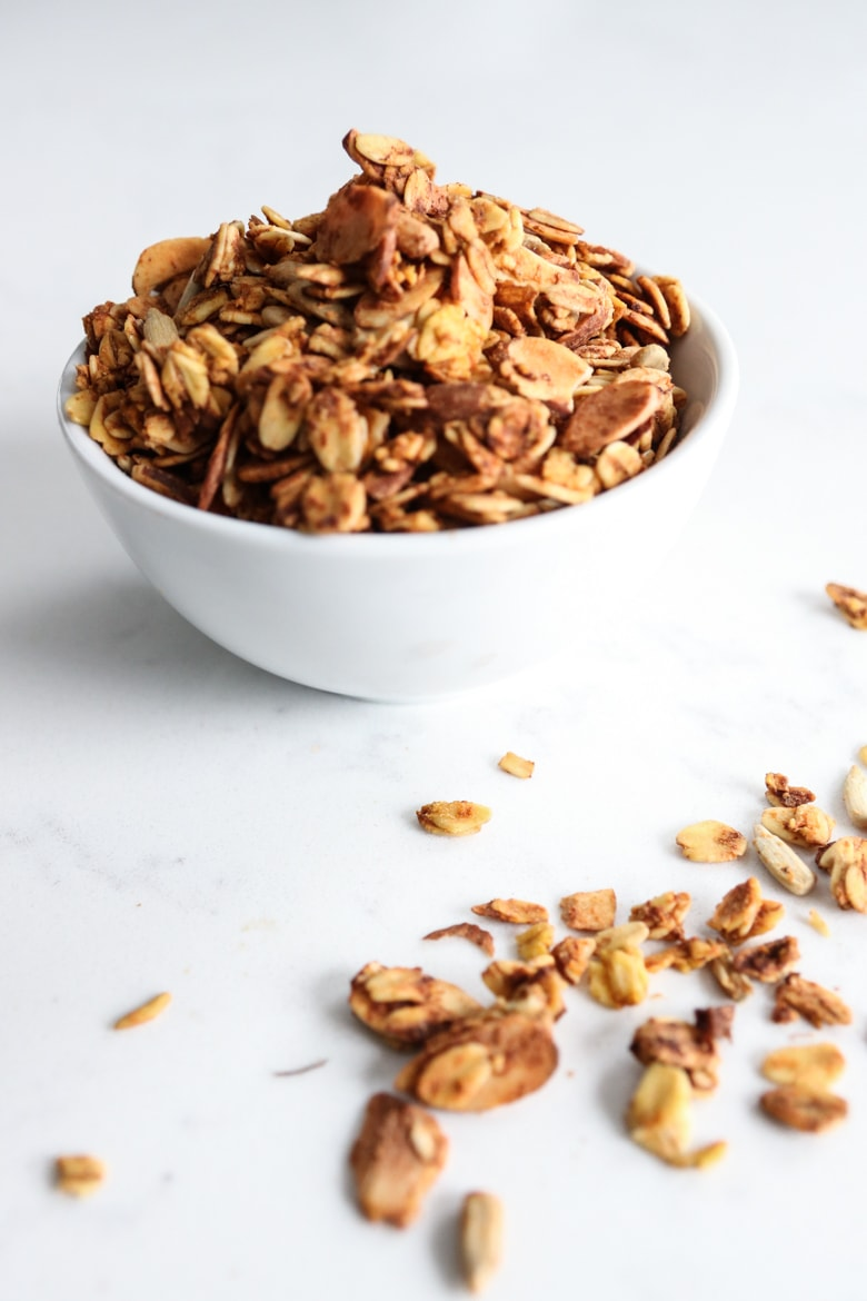 bowl of pumpkin granola