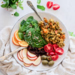 plate of colorful salad with egg bhurji