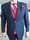 Black Suit with Pink Shirt