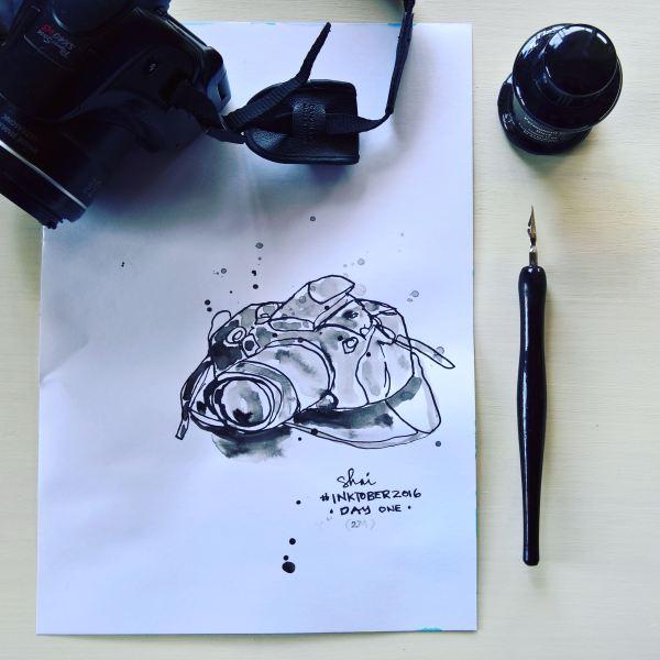 Inky Camera - Inktober Illustration