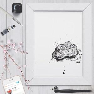 Inky Camera - Digital Art Print