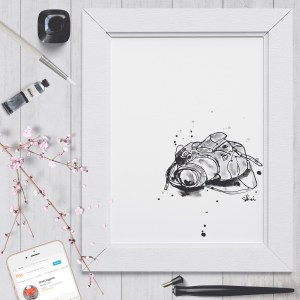 Inky Camera - Digital Art Print
