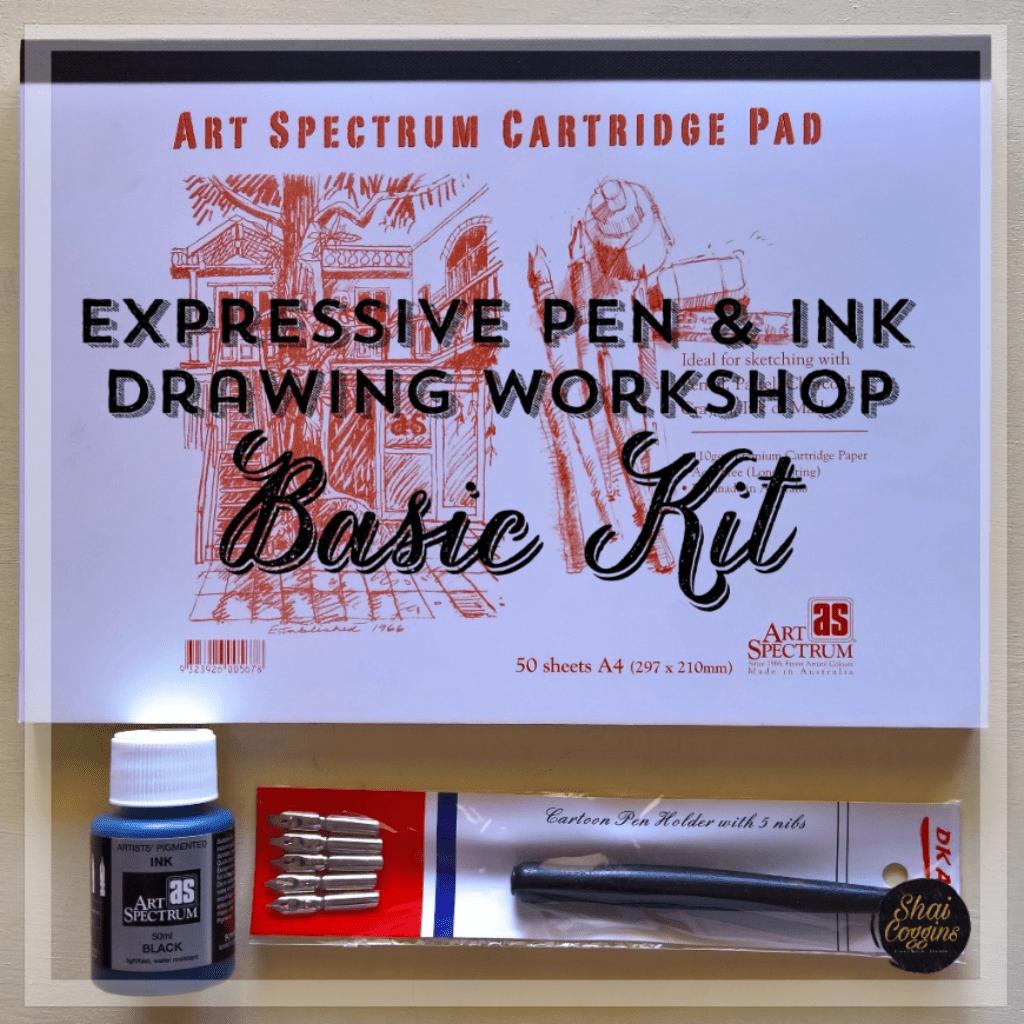 Basic Kit for the Expressive Pen and Ink Workshop