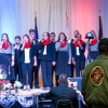 Shaie Williams for AGN Media. US Marine stands during the Armed Forces medley song. The song was sung by Tascosa Freedom Singers during the Armed Forces Day Banquet in Amarillo, TX Held at the Amarillo Civic Center on May 21, 2016.