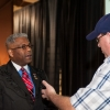 Shaie Williams for AGN Media. Lt. Colonel Allen B West visits with Danny Butcher at the Texas Panhandle Lincoln-Reagan Day Dinner hosted by the local Republican party groups held at The Rex Baxter Building in Amarillo, TX on January 29, 2016
