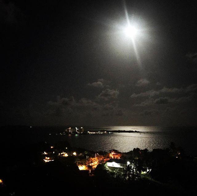 #moonlight #night #sky #sea #caribbean #lights