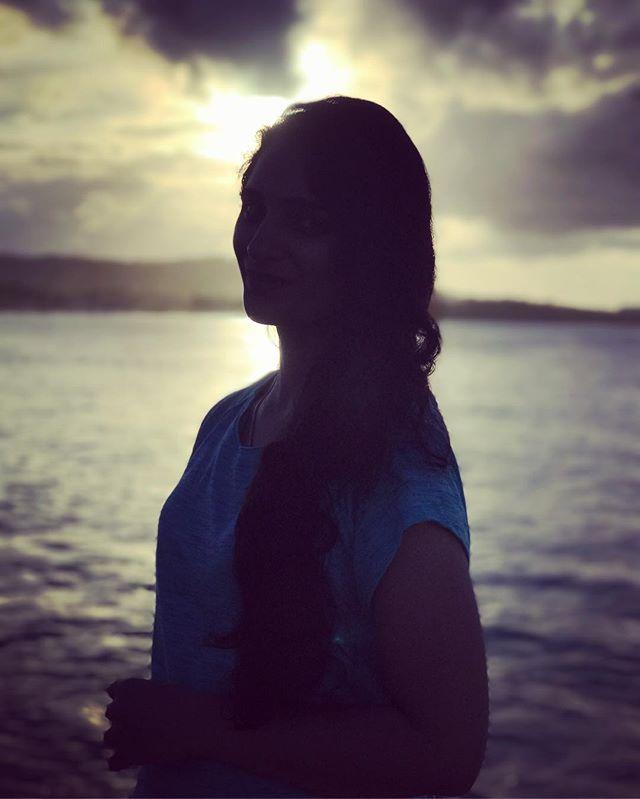 #sunset #silhouette #beach