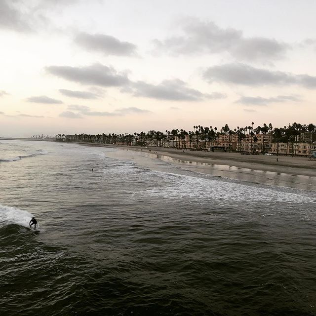 The beautiful surfers' beach overlooking the beautiful city! #california #tbt #surfer #beach