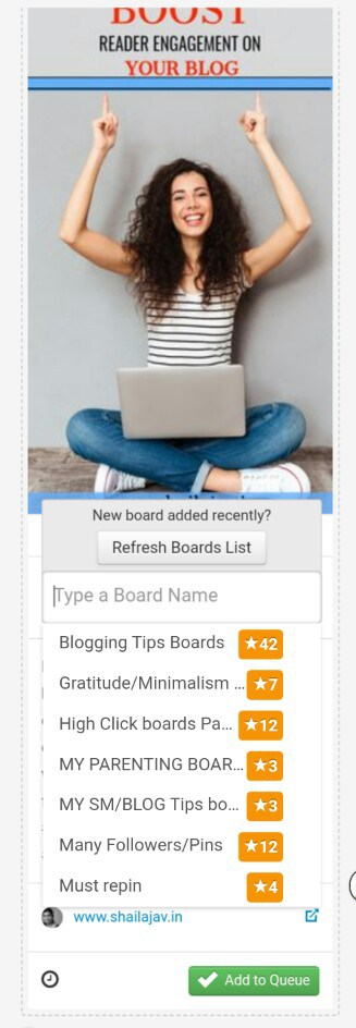 Board Lists for Pinterest and Tailwind