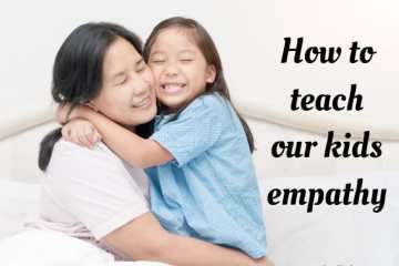 Mother and child hugging and smiling. How to teach empathy to your kids.