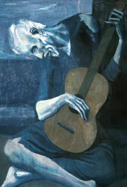 Le vieux guitarriste aveugle, 1904