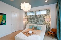 DIY Statement Ceiling paint and wallpaper Part 4