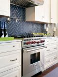 Herringbone Kitchen Backsplash for DIY decor Part 11
