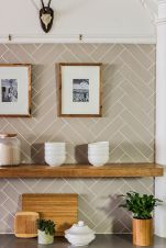 Herringbone Kitchen Backsplash for DIY decor Part 13