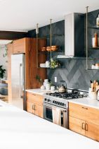 Herringbone Kitchen Backsplash for DIY decor Part 18