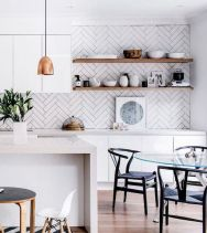 Herringbone Kitchen Backsplash for DIY decor Part 20