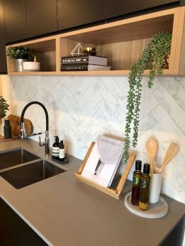 Herringbone Kitchen Backsplash for DIY decor Part 26