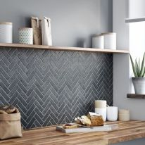 Herringbone Kitchen Backsplash for DIY decor Part 7
