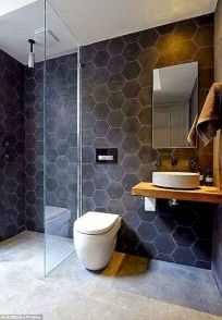 70+ Tiles Ideas for Small Bathroom - Get more Ideas in our gallery | #smallbathroom #bathroomdecoration #bathroomideas #bathroomtiles #bathroomdecor #homedecor (22)