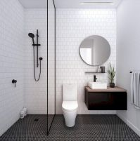 70+ Tiles Ideas for Small Bathroom - Get more Ideas in our gallery | #smallbathroom #bathroomdecoration #bathroomideas #bathroomtiles #bathroomdecor #homedecor (28)