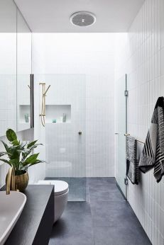 70+ Tiles Ideas for Small Bathroom - Get more Ideas in our gallery | #smallbathroom #bathroomdecoration #bathroomideas #bathroomtiles #bathroomdecor #homedecor (29)