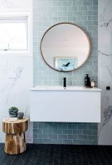 70+ Tiles Ideas for Small Bathroom - Get more Ideas in our gallery | #smallbathroom #bathroomdecoration #bathroomideas #bathroomtiles #bathroomdecor #homedecor (30)