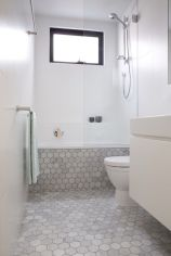 70+ Tiles Ideas for Small Bathroom - Get more Ideas in our gallery | #smallbathroom #bathroomdecoration #bathroomideas #bathroomtiles #bathroomdecor #homedecor (32)