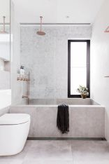 70+ Tiles Ideas for Small Bathroom - Get more Ideas in our gallery | #smallbathroom #bathroomdecoration #bathroomideas #bathroomtiles #bathroomdecor #homedecor (44)