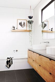 70+ Tiles Ideas for Small Bathroom - Get more Ideas in our gallery | #smallbathroom #bathroomdecoration #bathroomideas #bathroomtiles #bathroomdecor #homedecor (52)