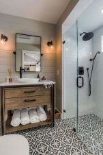 70+ Tiles Ideas for Small Bathroom - Get more Ideas in our gallery | #smallbathroom #bathroomdecoration #bathroomideas #bathroomtiles #bathroomdecor #homedecor (64)