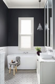 70+ Tiles Ideas for Small Bathroom - Get more Ideas in our gallery | #smallbathroom #bathroomdecoration #bathroomideas #bathroomtiles #bathroomdecor #homedecor (68)