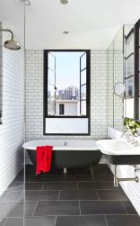70+ Tiles Ideas for Small Bathroom - Get more Ideas in our gallery | #smallbathroom #bathroomdecoration #bathroomideas #bathroomtiles #bathroomdecor #homedecor (93)