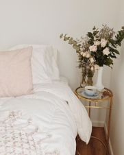 Simple tips for low budget bedroom makeover with classy curtain design and inspiring reading spot. Bedroom Makeover Idea Part 16
