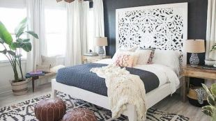 Simple tips for low budget bedroom makeover with classy curtain design and inspiring reading spot. Bedroom Makeover Idea  Part 18