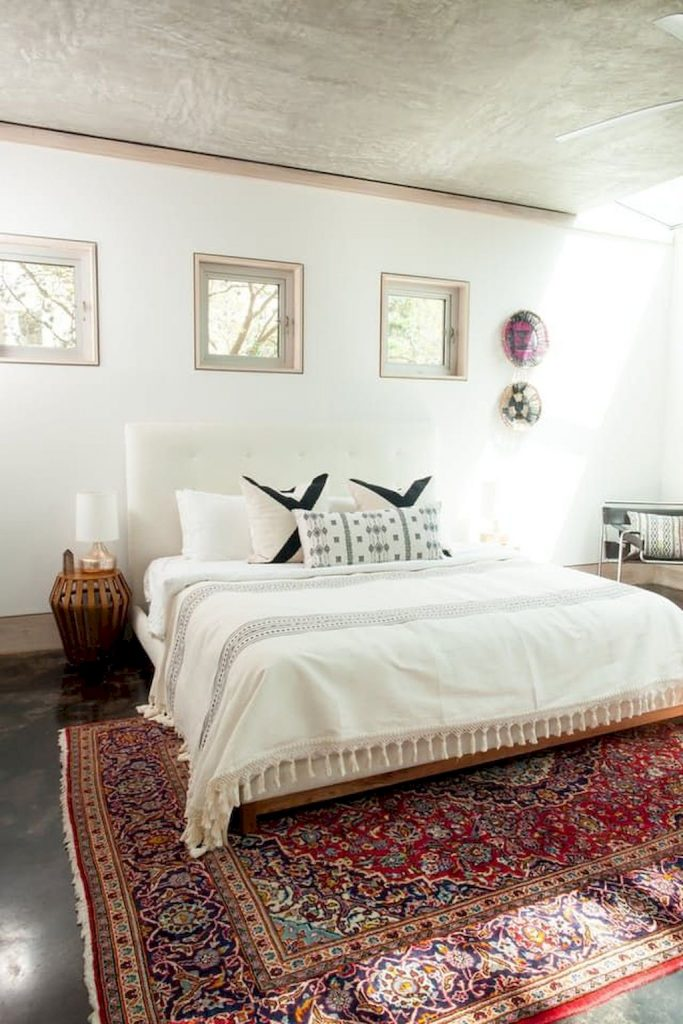 Simple tips for low budget bedroom makeover with classy curtain design and inspiring reading spot. Bedroom Makeover Idea  Part 24