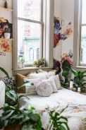 Simple tips for low budget bedroom makeover with classy curtain design and inspiring reading spot. Bedroom Makeover Idea Part 28